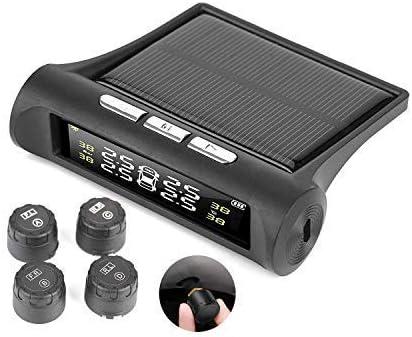 EULIQ Monitor de presión de neumáticos de Coche, Muestra presión en Tiempo Real y Temperatura, 6 Modos de Alarma para Proteger los neumáticos