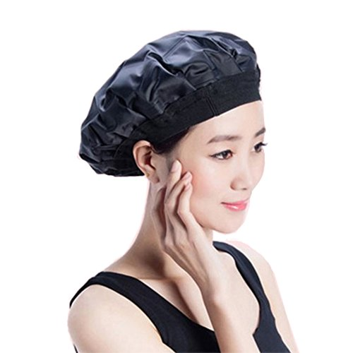 LifeWheel Cordless Hot/Cold Therapy Hair Cap Thermal Heat Hat for Hair Oil Treatment Eco-Friendly, Deep Conditioning Hot and Cold Compress Microwavable Hair Dyeing Equipment with Gel Filling – Black from LifeWheel