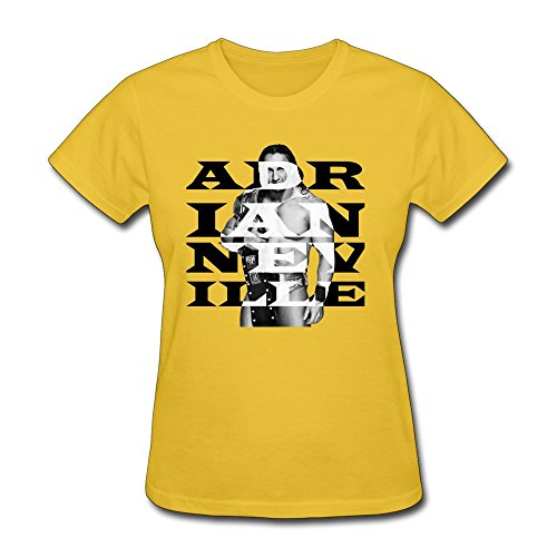 AOPO WWE Adrian Neville T-shirts For Women Large Yellow