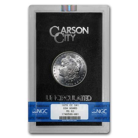 1878 CC Carson City Morgan Silver Dollar GSA $1 MS63 NGC