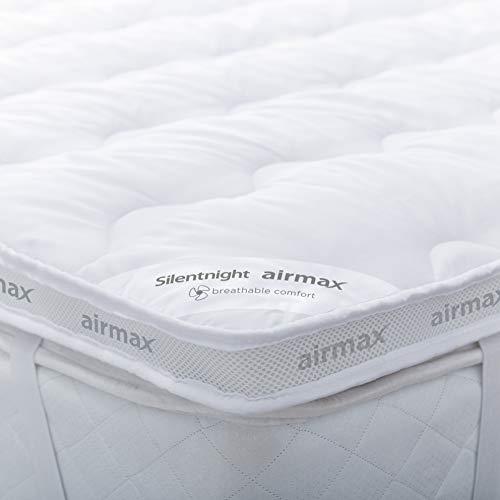 Silentnight Airmax Mattress Topper, White, Double