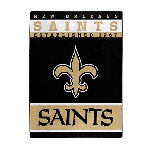 - The Northwest Company Officially Licensed NFL New Orleans Saints 12th Man Plush Raschel Throw Blanket, 60