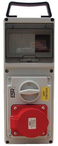 16 Amp 5 Pin Interlock Socket Switch 380V 415V 3P+N+E Weatherproof IP44 16A