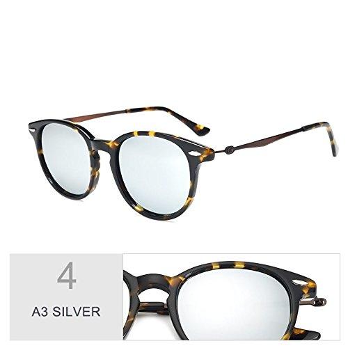 A3 Sol Gafas C96 Oval Para De Polarizadas Mujeres Retro SILVER De Guía Sol TIANLIANG04 Unisex Uv400 De Gafas Silver En Anteojos Madera Similar Hombres fwR4B