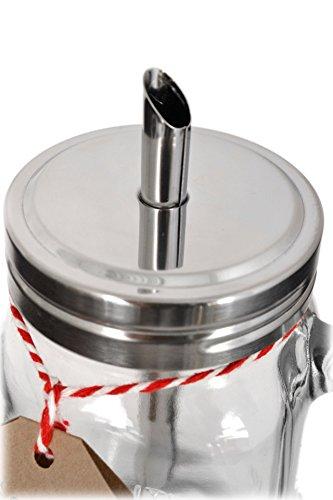 Large Mason Jar 15oz Bistro-Style Shaker Glass Sugar Dispenser by American Chateau (Image #3)