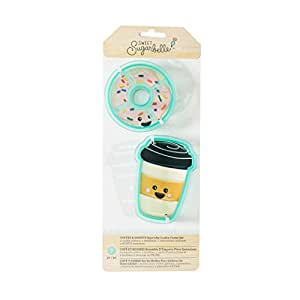 American Crafts 377233 7 Piece Sweet Sugarbelle Cookie Cutter Set We Go Together Coffee & Donut