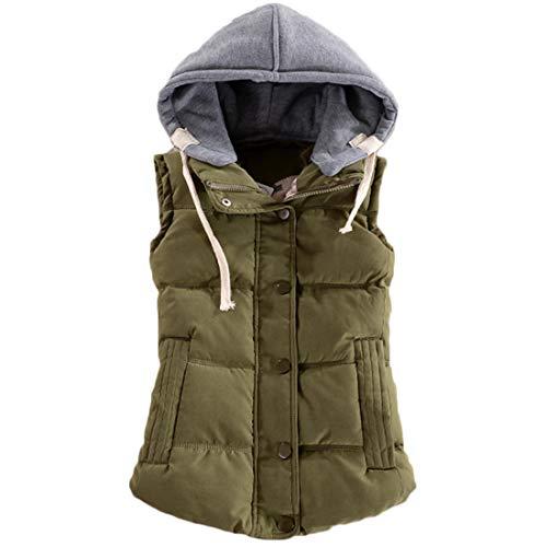 言うまでもなく空死傷者Huicai 冬 コットン ノースリーブ ベスト 女性の ボタン 短いパラグラフ 暖かく保つ コート パーカー