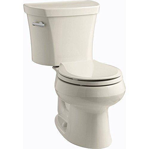 Kohler K-3947-0 Wellworth Round-Front 1.28 gpf Toilet, 14-inch Rough-In, White