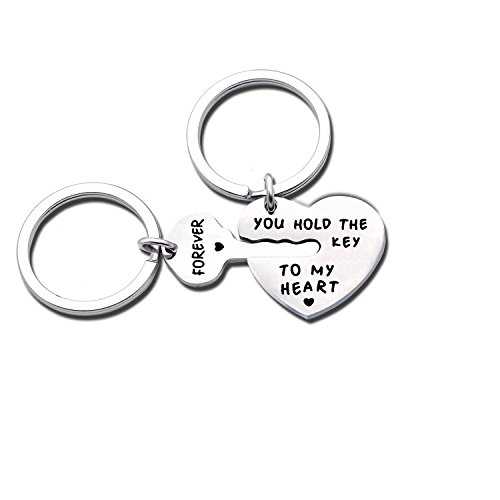 Niceter Couples Lovers Gifts Silver Puzzle Keychain Key Rings Chains Gift for Mens Womens