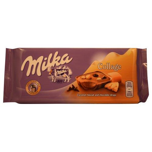 Milka Collage Caramel Alpine Milk Chocolate 93g