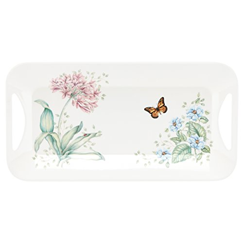 Lenox Butterfly Meadow Melamine Hors D'Oeuvre Tray, White from Lenox