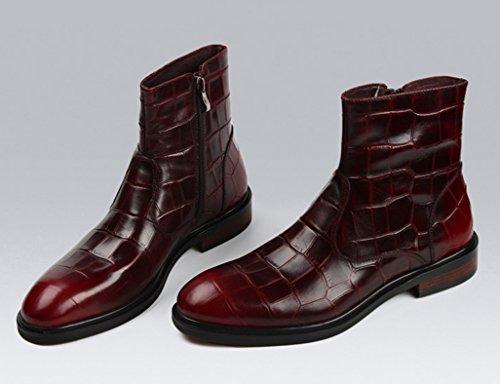 Zapatos Clásicos de Piel para Hombre Botas de hombre Botas de ejército Botas altas Botas Martin de estilo británico ( Color : Negro , Tamaño : EU38/UK5.5 ) Marrón