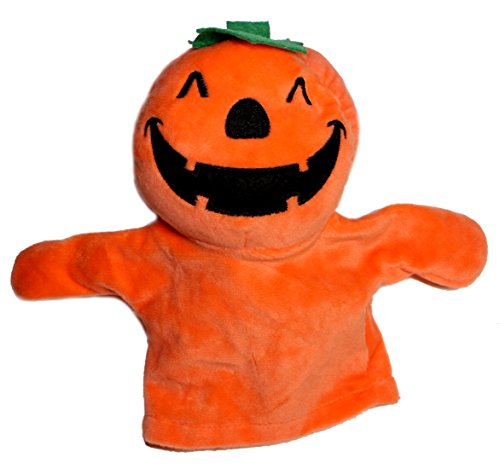 Lucore Halloween Mr. Pumpkin Head Hand Puppet - 7 Inch Plush Doll Toy for Teaching, Storytelling & Educational Play