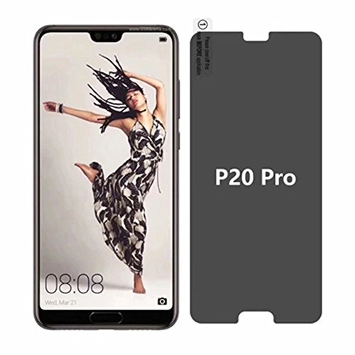 For Huawei P20 Pro Privacy Glass Screen Protector - Full Coverage Tempered Glass Screen Protector [2 PACK] For Huawei P20 Pro Anti-spy 9H Hardness Front Glas Protector