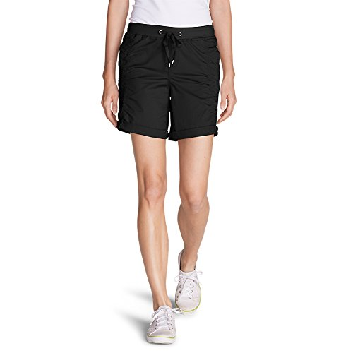 Eddie Bauer Womens Short (Eddie Bauer Women's Kick Back Twill Shorts, Black 4)