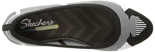 Pictures of Skechers Women's Cleo Wham Flat, Black/White, 8.5 M US 2