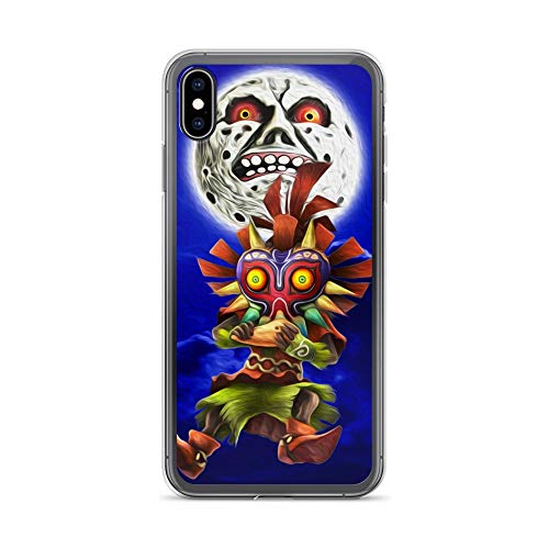 iPhone Xs Max Case Anti-Scratch Gamer Video Game Transparent Cases Cover Skull Kid Gaming Computer Crystal Clear -