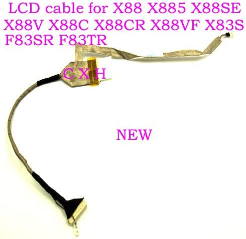 Cable Length: Other 1422-00JG000 Computer Cables LCD Screen Video Cable for Asus X88S X88 X88V X88C X88CR X88VF F83 F83T F83SR F83TR P//N