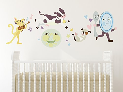 - Sunny Decals Nursery Rhyme Fabric Wall Decal