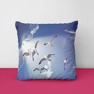 41AEi8%2BEKhL. SS320 Flying Birds Square Design Printed Cushion Cover