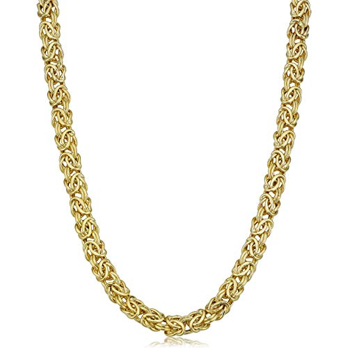 Kooljewelry 14k Yellow Gold 6 mm Byzantine Necklace (18 inch)