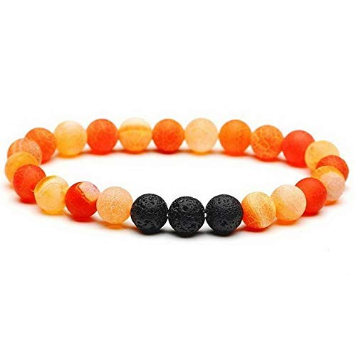 - Mikash Fashion Sacred Arrow Lava Natural Stone Buddha Owl Wing Bead Women Men Bracelet | Model BRCLT - 38093 |