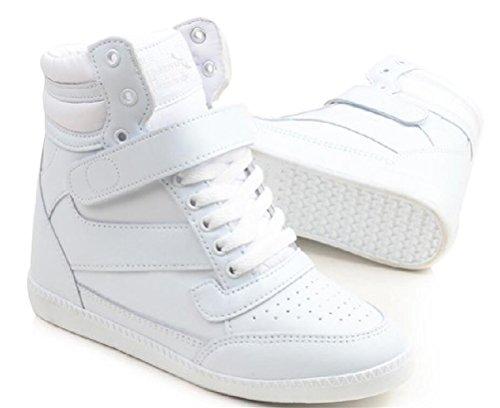 Hoge Hakken Van Dames Met Verborgen Hiel, Sneakers Met Lace Up Casual Mode