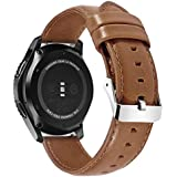 For Samsung Gear S3 genuine leather watch band crazy horse leather suede strap light brown