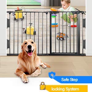 Upgraded Fireplace Safety Fence Baby Gate/Fence BBQ Pet Metal Fire Gate Baby Play Yard with Door 5 Panels Safety Gate for Pet/Toddler/Dog/Cat US Stock by Tenozek (Image #5)