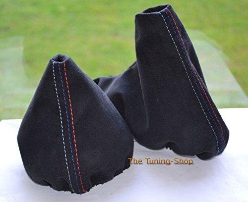 Gear Handbrake Gaiter Manual Black Suede With M Power Stitching The Tuning-Shop Ltd
