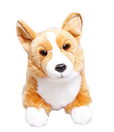 Simulation of the Dog Esent Girls Birthday Gift Plush Toy Dog--Welsh Corgi
