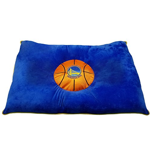 """lovely NBA PET BED - Golden State Warriors """"Soft & Cozy"""" Plush Pillow Bed. - BASKETBALL DOG BED. Cuddle, Warm Sports Mattress BED for CATS & DOGS"""