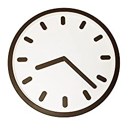 JustNile 3D Modern Contemporary Wall Clock - 12-inch Round Brown Capsules