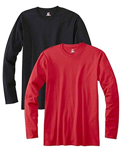 Hanes Men's Long-Sleeve Premium T-Shirt (Pack of 2)