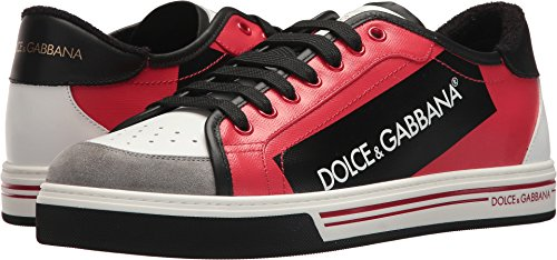 Dolce & Gabbana Men's Tape Logo Sneaker Red 45 M - Dolce Logo Gabbana &