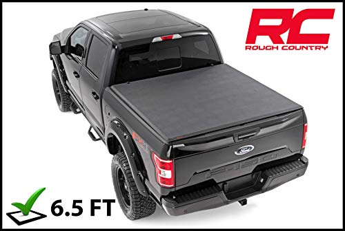 (Rough Country Soft Tri-Fold Fits 2000-2006 [ Toyota ] Tundra 6.5 FT Bed Truck Tonneau Cover 44700650 Soft Folding )