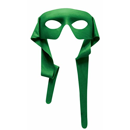 Mens Green Mask with Ties Venetian Mardi Gras Costume Accessory