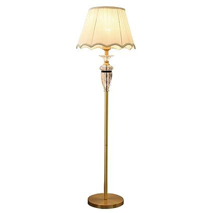 WPLDD lámpara de pie Lámpara de pie de Cristal de Cobre ...