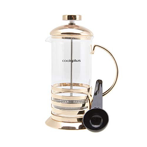 Linear French Press - Cookplus Coffee Bean French Press Bronze Linear 350 Ml - 12 oz