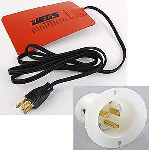 JEGS 23671K Oil System Heating Pad with 110V Recessed Outlet