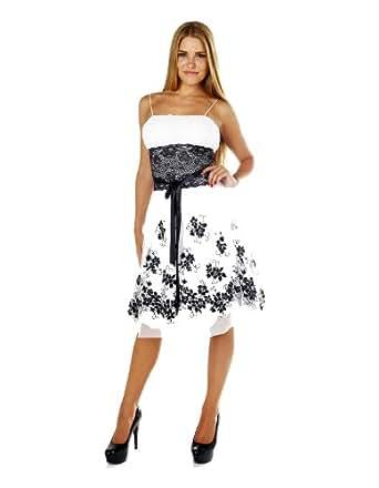 Lace Cocktail Dress (Medium, White)