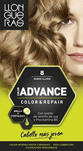 Llongueras Color Advance Tinte, Tono: 8 Rubio Claro - 200 g ...