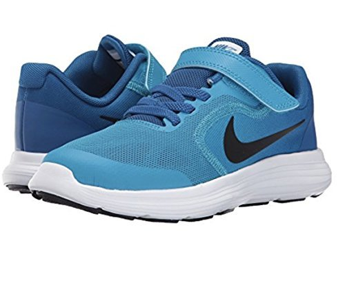 NIKE Kids' Revolution 3 (Psv) Running-Shoes, Blue Orbit/Black/Blue Jay/White, 2 M US Little Kid