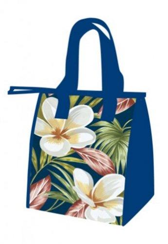 Hawaiian Medium Insulated Lunch Bag Plumeria Navy, My Pet Supplies