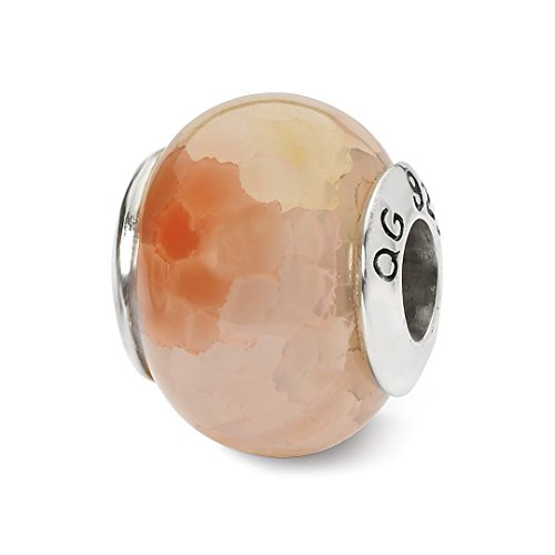Cracked Ice Gold Sets (ICE CARATS 925 Sterling Silver Charm For Bracelet Pink Cracked Agate Stone Bead From The Earth Fine Jewelry Ideal Gifts For Women Gift Set From Heart)