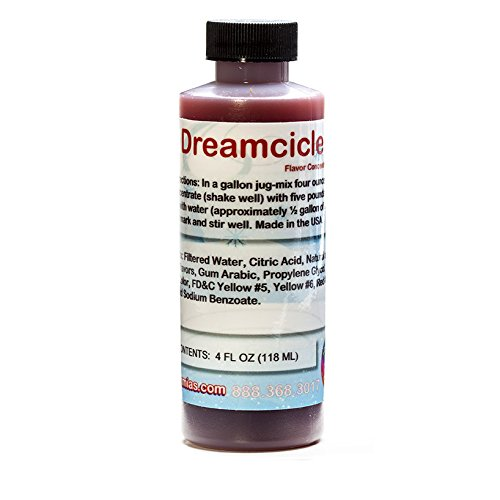 Dreamcicle Shaved Ice and Snow Cone Flavor Concentrate 4 Fl Ounce ()