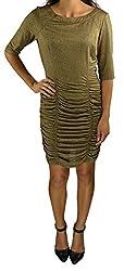 BCBGeneration Women's Cut Out Dress Large Gold