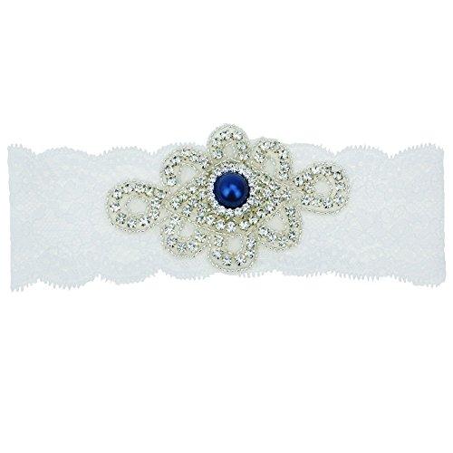 Topwon Wedding Single Garter / Bridal Garter / Lace Garter / Blue Garter