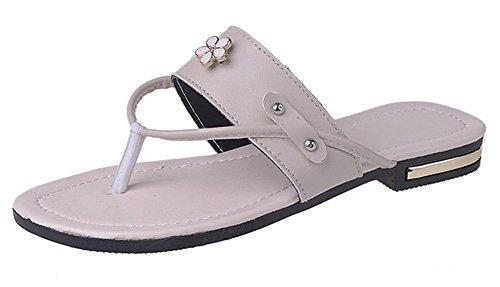 Frau Sommer Sandalen Klippzehe drag Sandalen flache Sandalen und Pantoffeln Frauen meters white