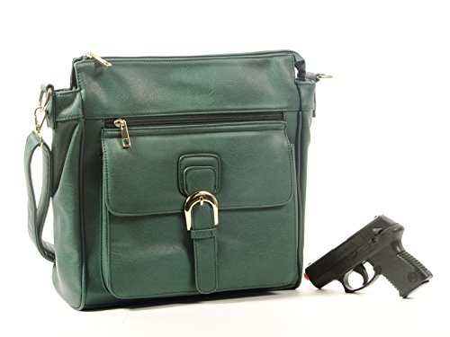 Goson Front Buckle Concealed Gun Handbag Bundle with Stylish - Slash Sunglasses